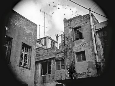 Szilágyi Lenke: Cím nélkül (részlet a  Szíria című sorozatból) 1993.